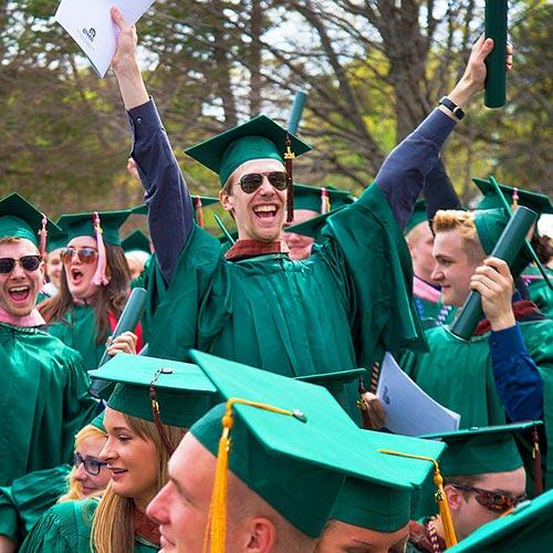Celebrating grad