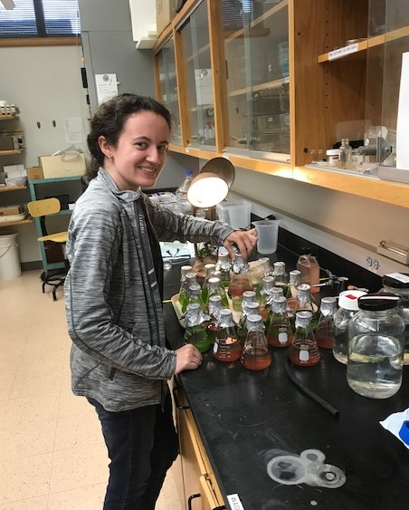 Alecia Beagle is a member of Dr. Jaeckle's summer research team