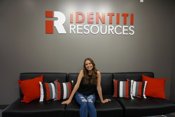 Esther with the Identiti sign