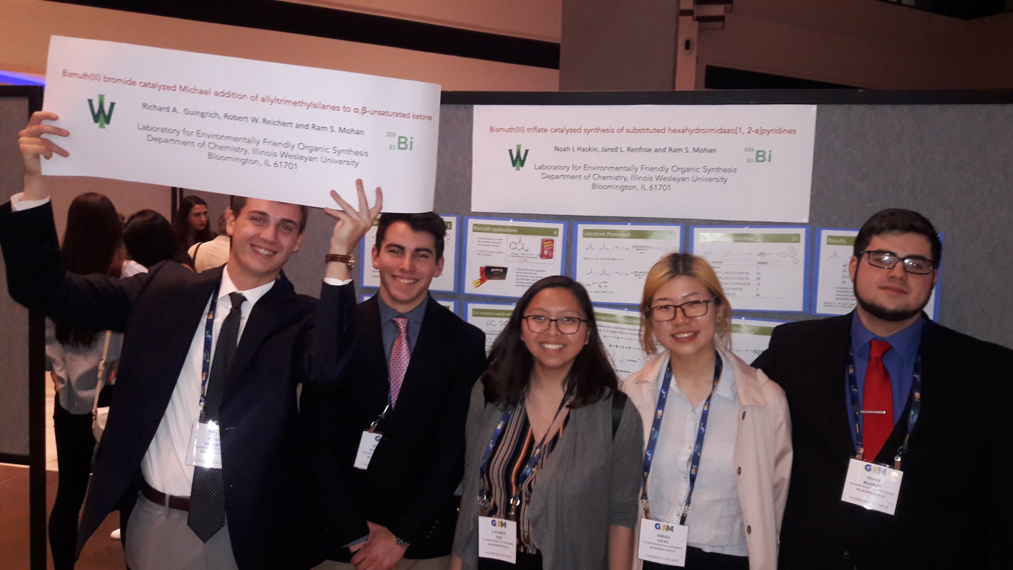 Dr. Mohan's research students at Green Chemistry conference