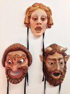 Roman Comedy Masks made by students
