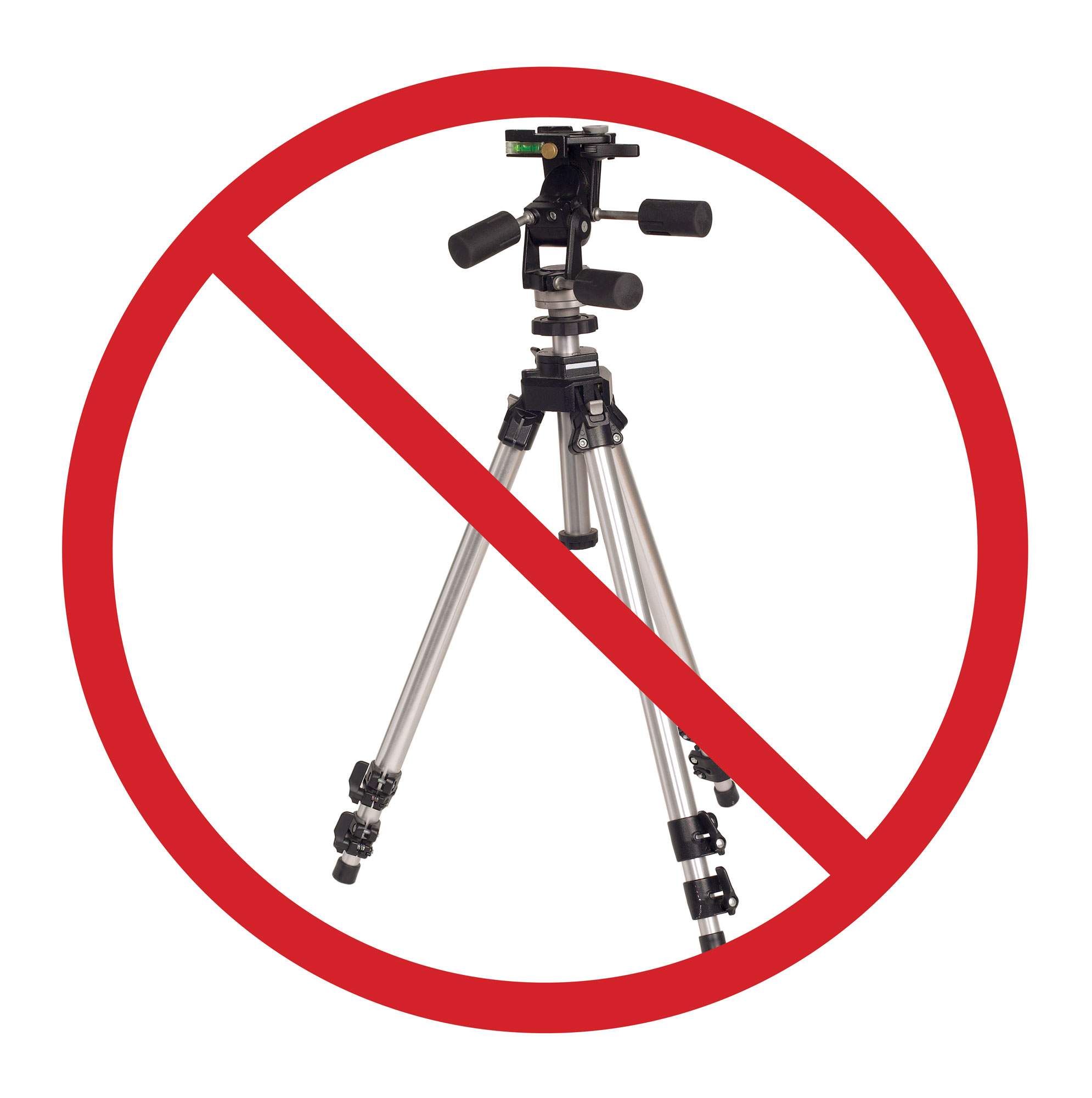 No tripods permitted