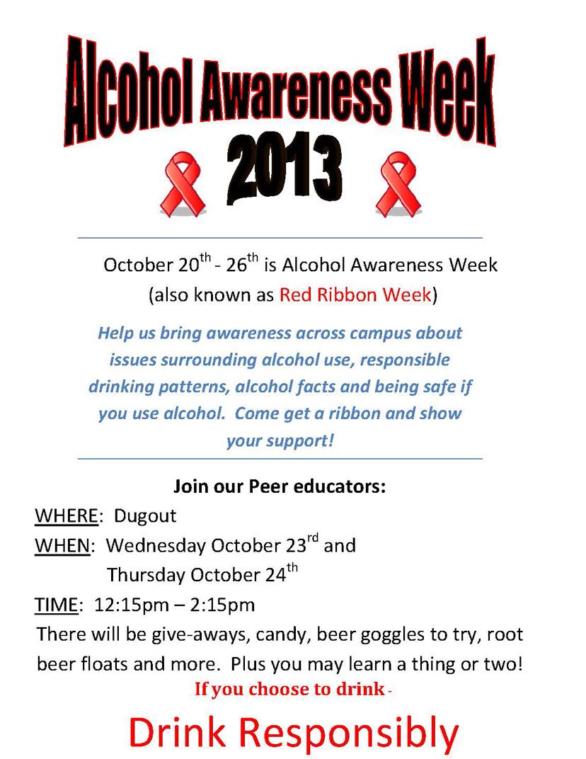 Alcohol Awareness Activities