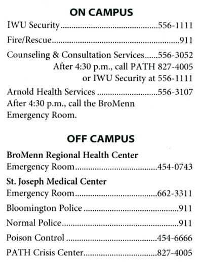 CCS Emergency Contact Card