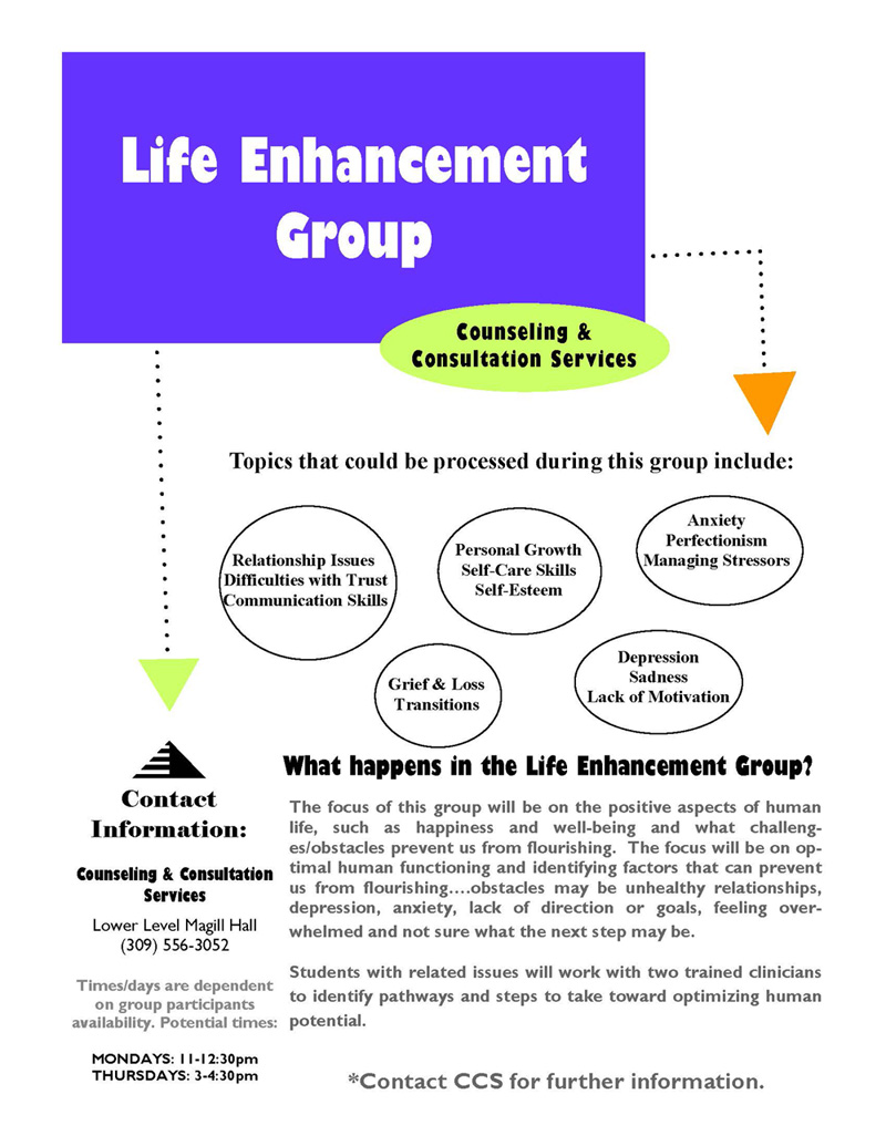 Life enhancement poster