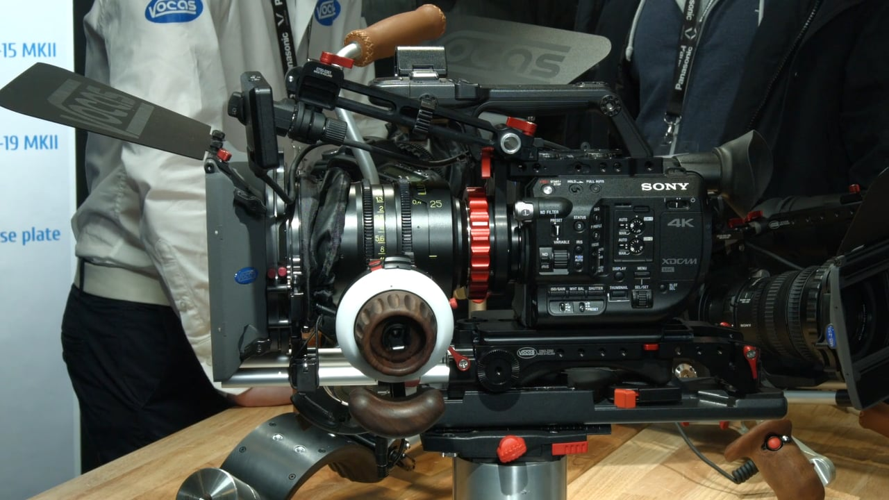 Sony FS5 with Follow Focus Rig and Matte Box.