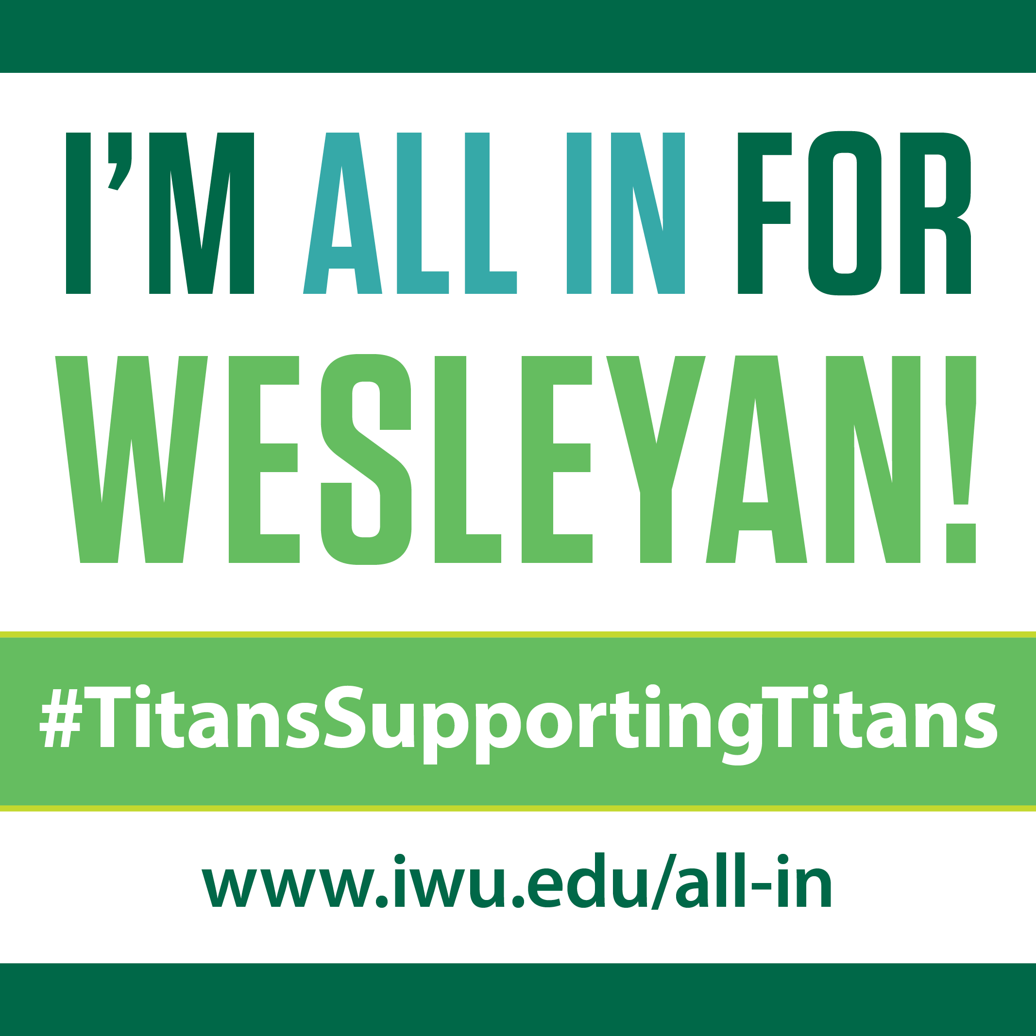 All In for Wesleyan