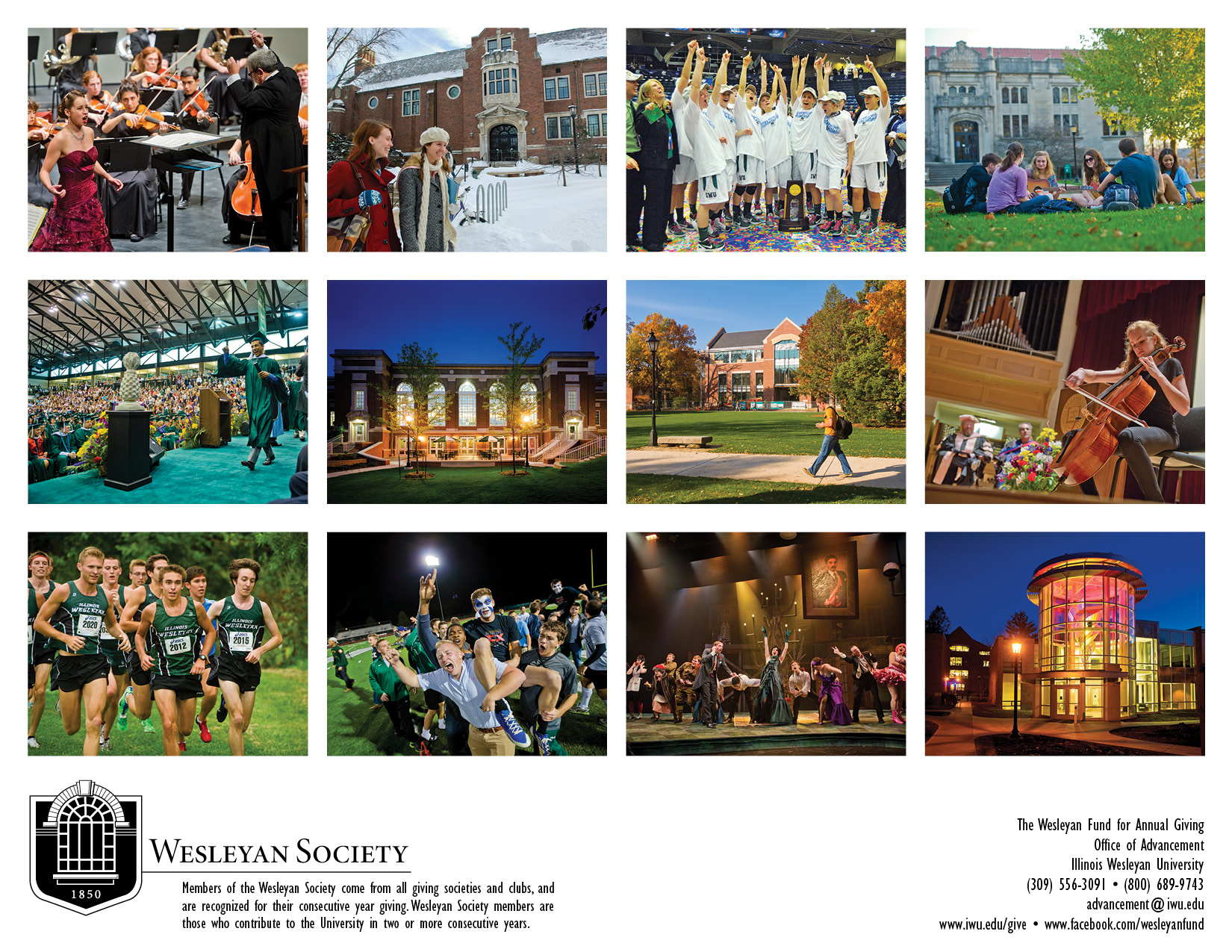 Back cover of the 2013 Wesleyan Society calendar