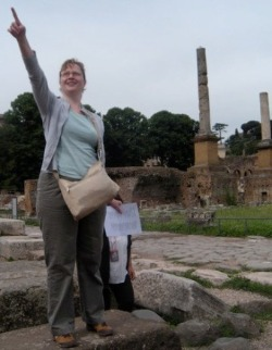 Amy Pointing in Pompeii