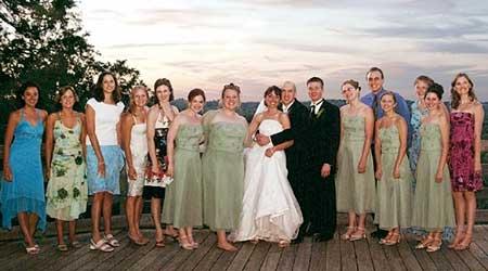 illinois wesleyan winter 2005 magazine wedding photos