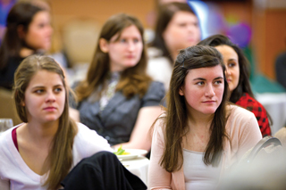 students attend Council for IWU Women summit