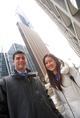 Interns Dan Siegert '15 and Yichen Shao '15