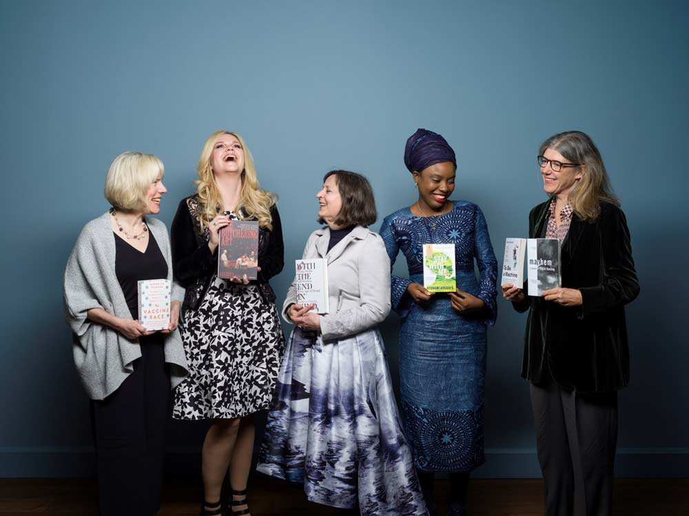 Fitzharris (second from left) is photographed with authors shortlisted for the 2018 Wellcome Book Prize.