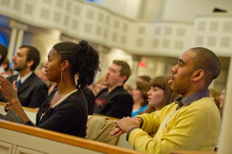 Students at Evelyn Chapel