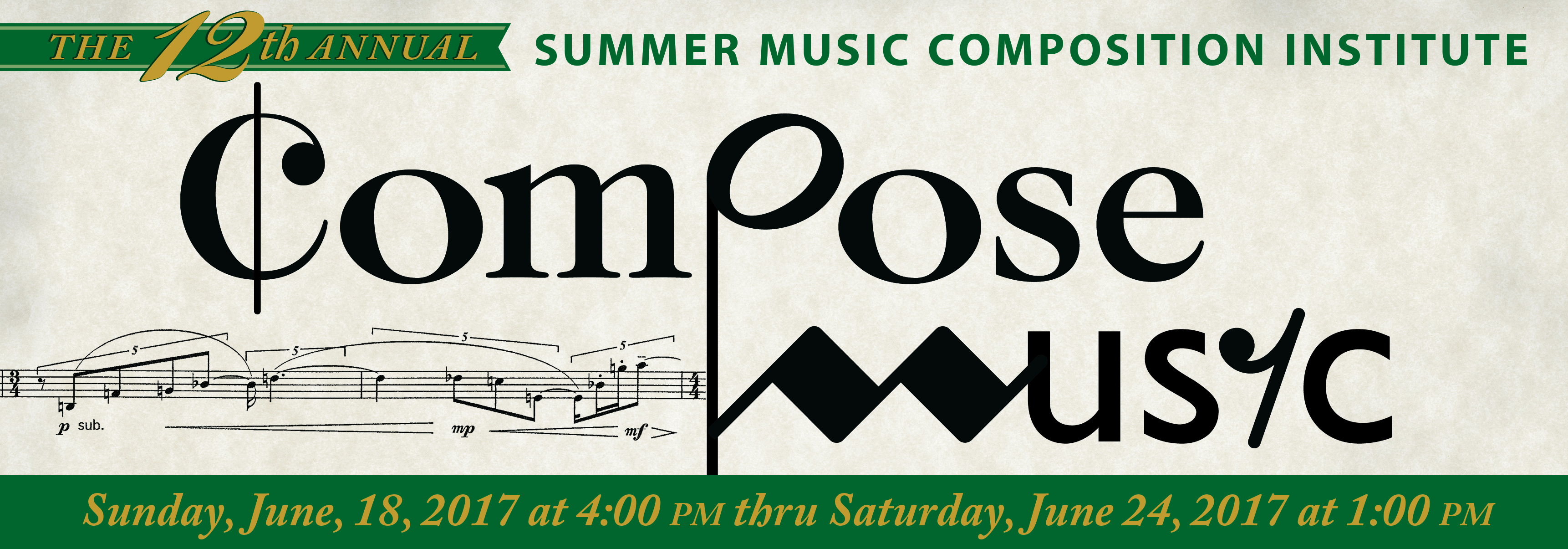 Summer Music Composition Institute