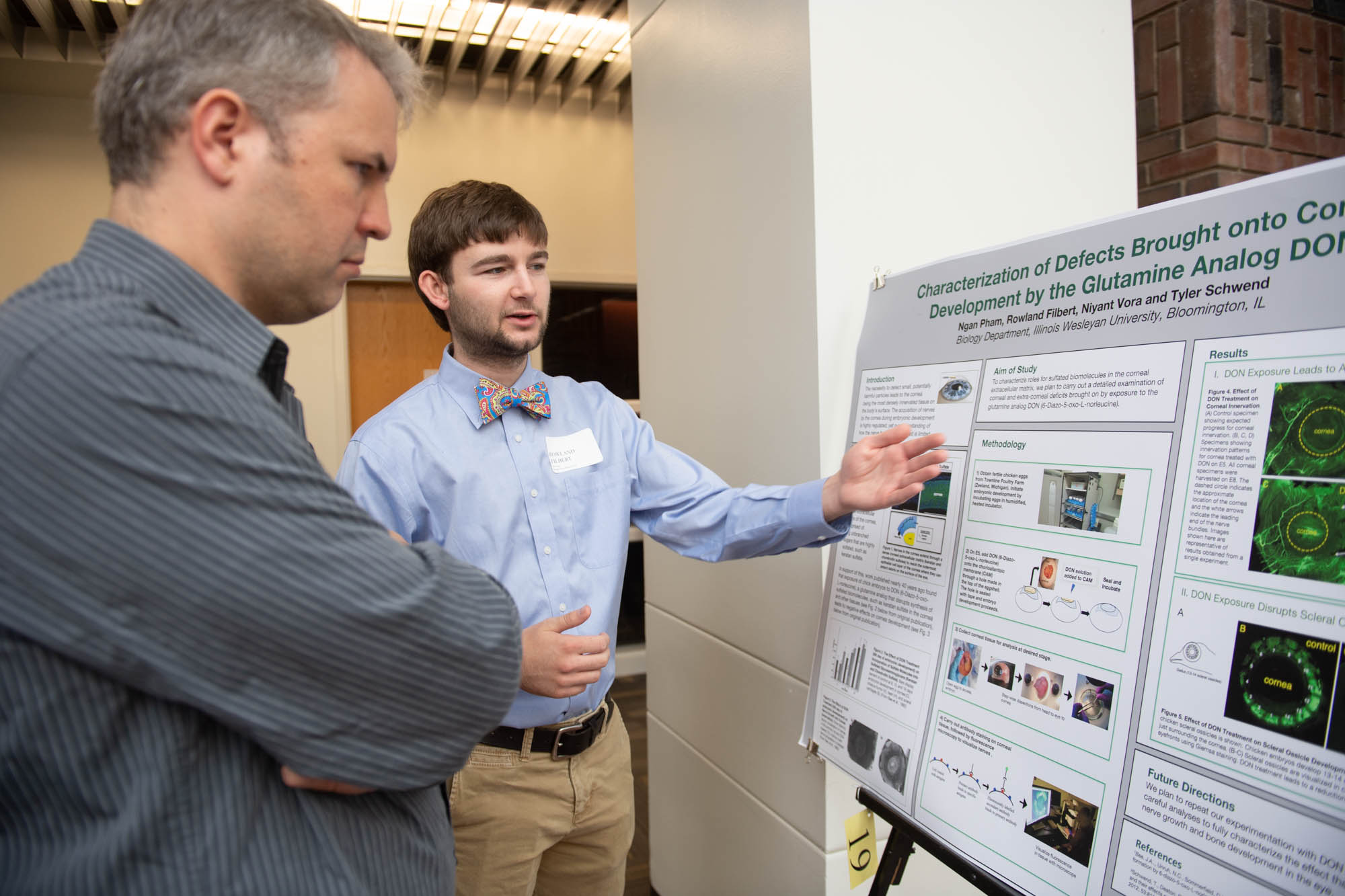 Student presenting research poster at John Wesley Powell Conference