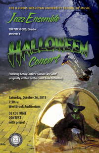 2013 Jazz Ensemble Halloween Poster