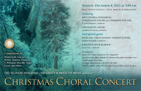 Christmas Choral Concert Poster