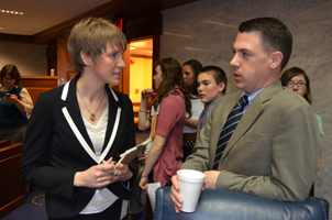 Tracy Lytwyn with Sen. Jim Banks