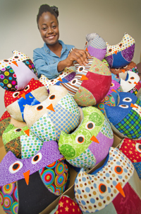 Owl Pillows for the International Students