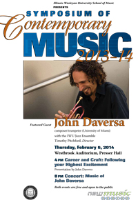 Symposium of Contemporary Music Poster