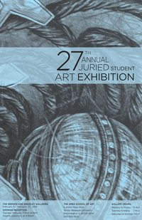 2014 Juried Art Student Art Exhibition Poster