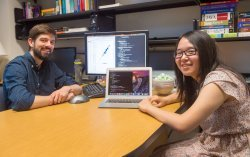 Associate Professor of Computer Science Mark Liffiton supported Wenting Zhao '18 as she sought more complex, independent work.