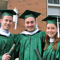 Triplets' Personal Journeys Reflect Illinois Wesleyan Experience