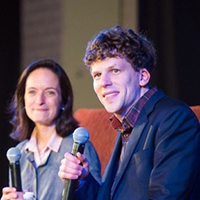 Actor, Author Eisenberg Wows Students at Illinois Wesleyan