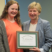 College Panhellenic Honors Jarvis as Professor of the Year