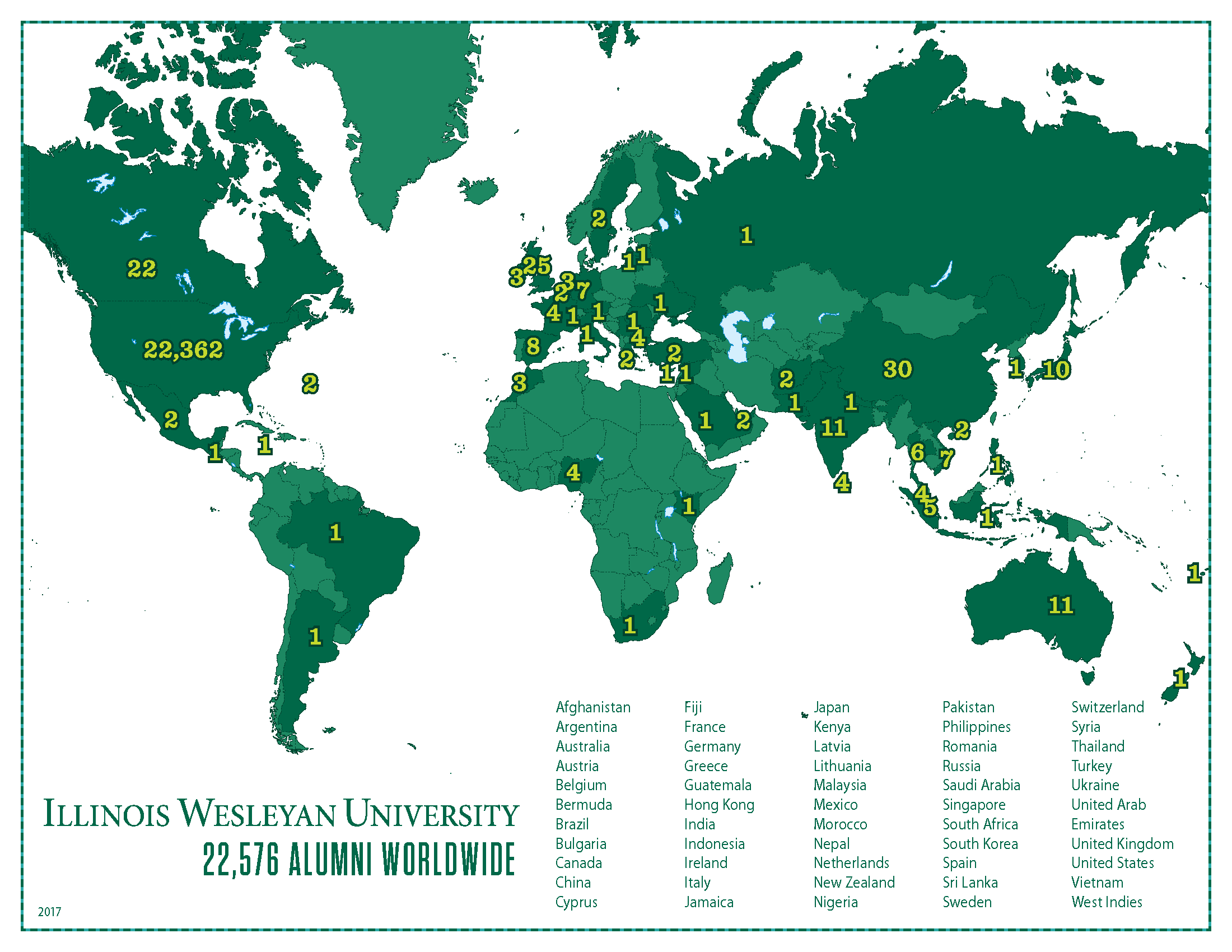 Alumni around the world