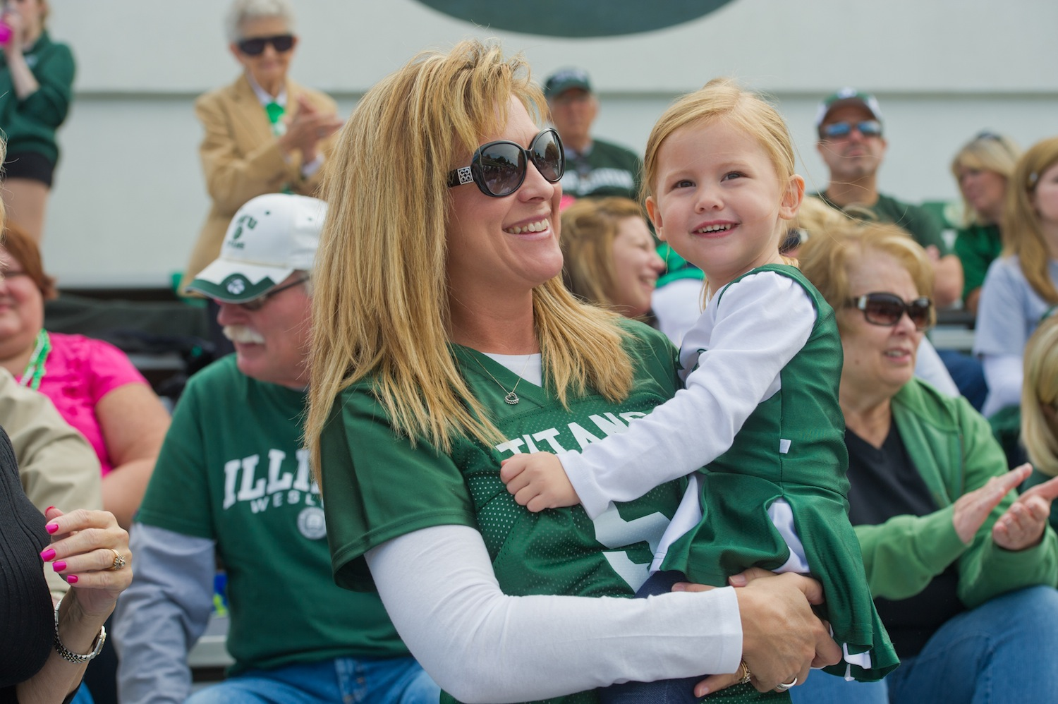 Titan families show their support during Family Weekend.