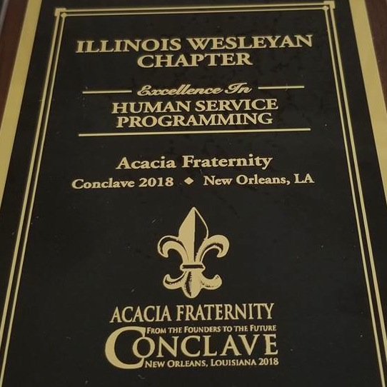 Acacia Fraternity Honored for Philanthropy and Service