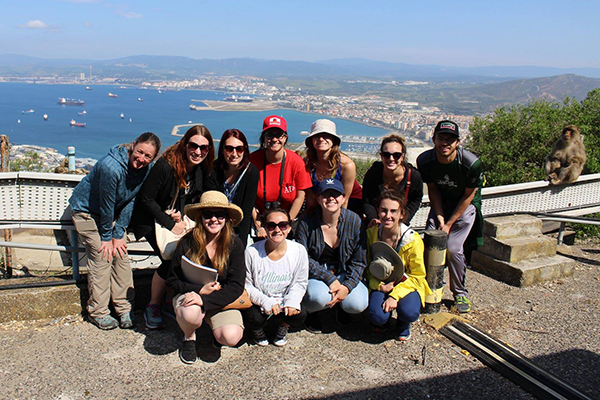 "Participants in ""Primates in Our Midst"" pose in Gibraltar."