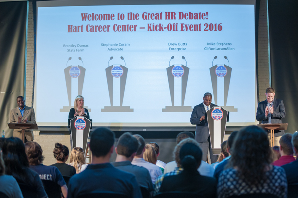 the Hart Career Center invited recruiters from four prominent employers to share what they look for in a resume and to present strategies for interviewing