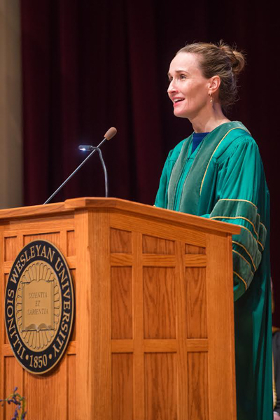 Investigative reporter and President's Convocation speaker Jenny Nordberg spoke about her work