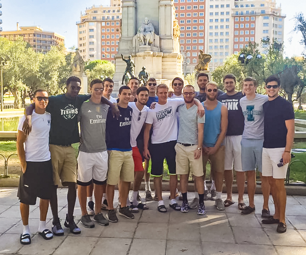 men's basketball team played four exhibition games during an eight-day stay in  Spain