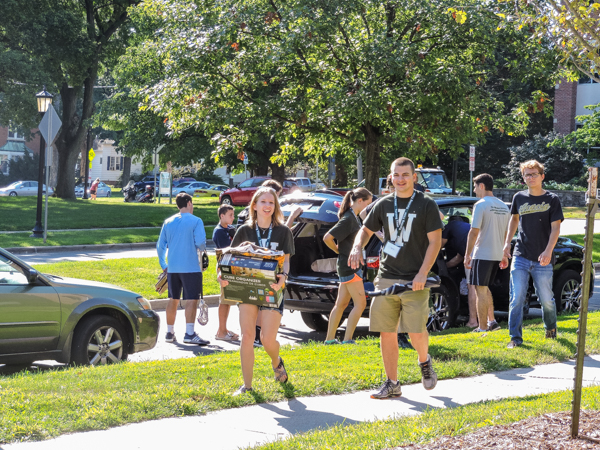 Office of Residence Life staffers and many other volunteers were out in full force to help incoming first-year students move their cherished possessions into the residence halls