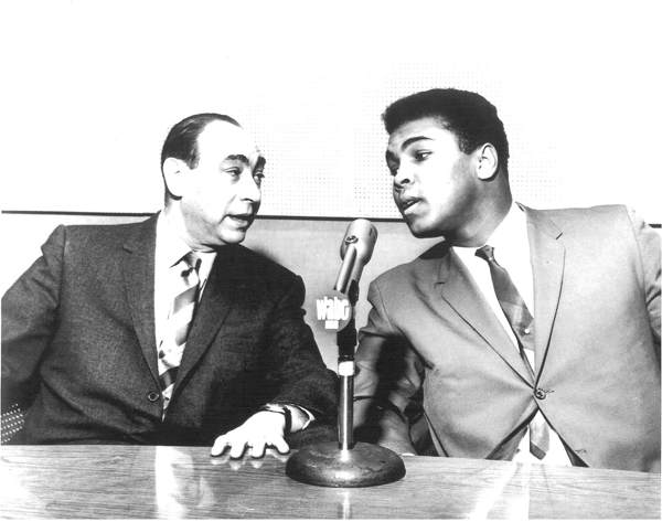 sportscaster Howard Cosell and heavyweight champ Muhammad Ali