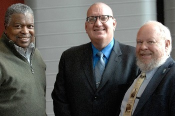 Community member Willie Brown, speaker Ed Yohnka, and Professor Vernon Burton at the 2015 MLK Teach-In