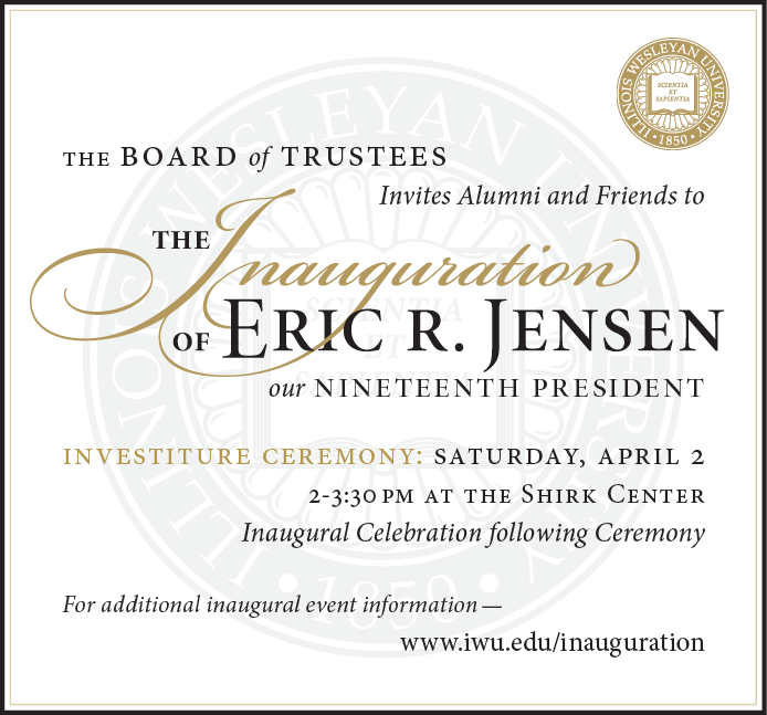 You're invited to the inauguration of Eric Jensen