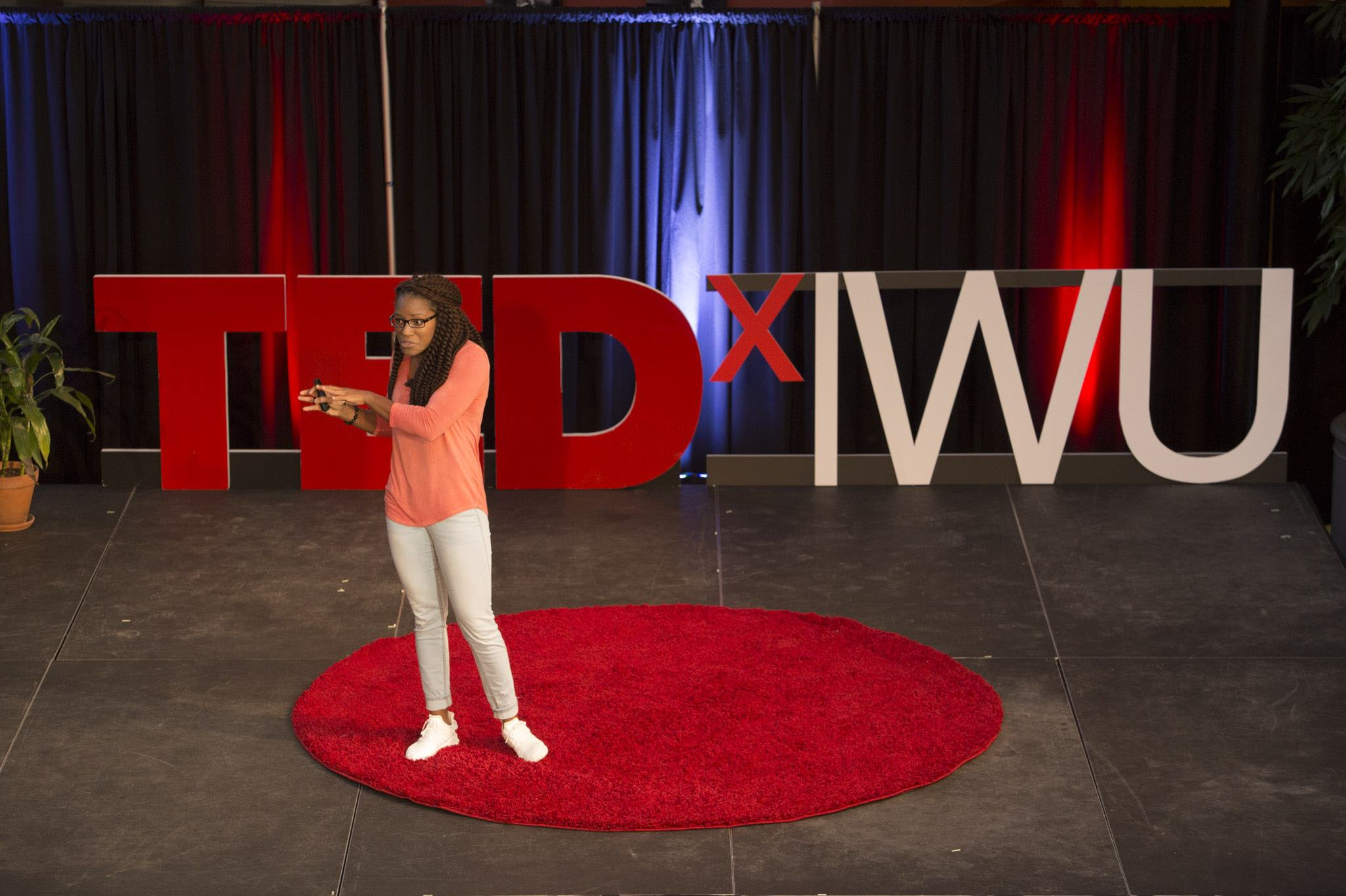 TEDxIWU black background