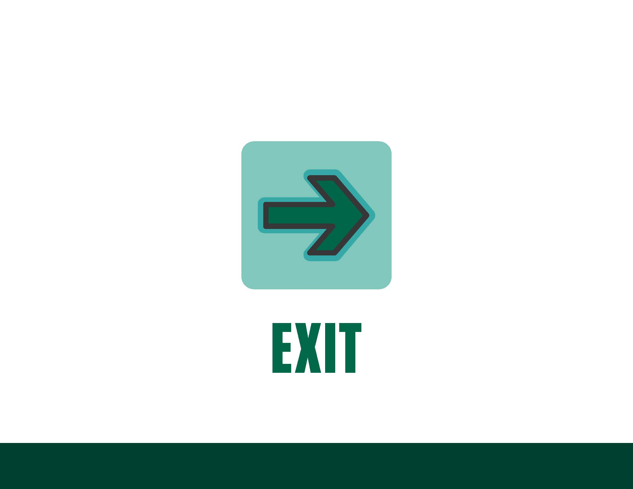 COVID sign - exit, right arrow