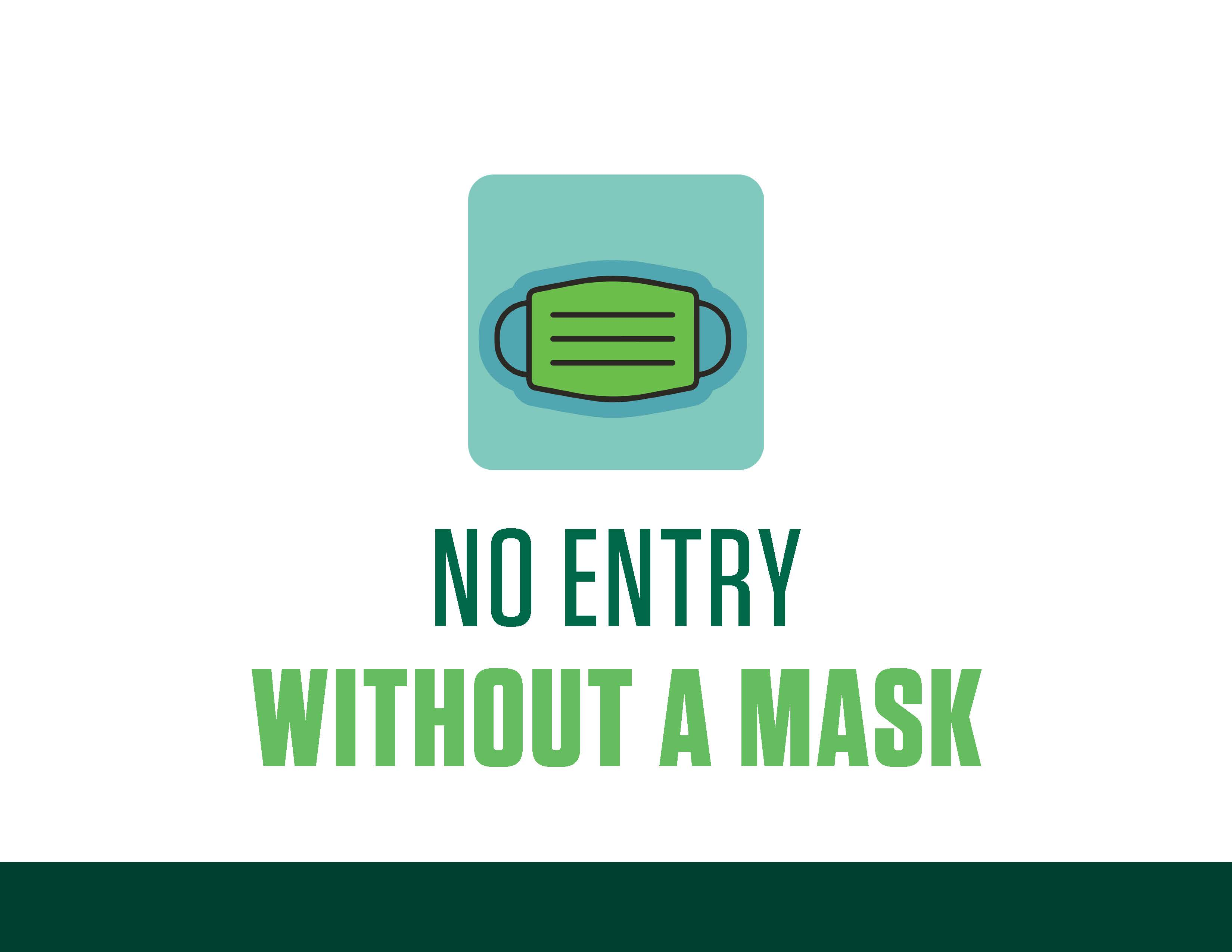COVID sign - no entry without mask