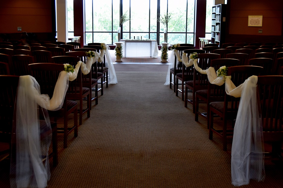 Ames Library Wedding